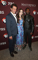 8 June 2019 - Los Angeles, California - Dominic West, Lily Collins, David Oyelowo. Les Misérables Photo Call held at Linwood Dunn Theater. Photo Credit: Faye Sadou/AdMedia