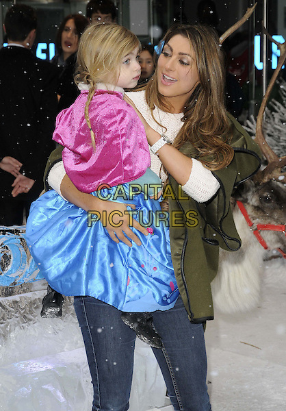 LONDON, ENGLAND - NOVEMBER 17: Dixie &amp; Luisa Zissman at the &quot;Frozen&quot; VIP film screening, Odeon Leicester Square cinema on November 17, 2013 in London, England, UK.<br /> CAP/CAN<br /> &copy;Can Nguyen/Capital Pictures