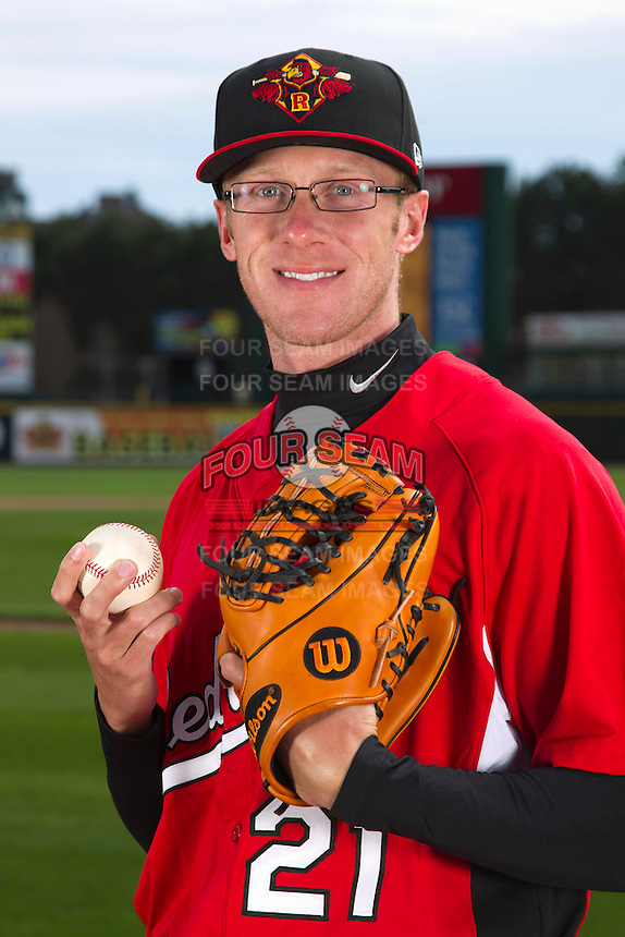 Rochester Red Wings pitcher Cole DeVries #19 poses for a photo during media day at Frontier Field on April 3, 2012 in Rochester, New York.  (Mike Janes/Four Seam Images)