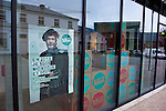 """Belgium, Mons - December 17, 2014 -- European Capital of Culture in 2015 (together with the Czech city of Pilsen) themed """"Where technology meets culture""""; here, one of the many posters -- Photo © HorstWagner.eu"""