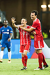 Bayern Munich Defender Rafinha de Souza (L) celebrating his score with Bayern Munich Defender Mats Hummels (R) during the International Champions Cup match between Chelsea FC and FC Bayern Munich at National Stadium on July 25, 2017 in Singapore. Photo by Weixiang Lim / Power Sport Images
