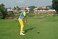 Seung-Yul Noh (KOR) on the 14th tee during Round 3 of the CIMB Classic in the Kuala Lumpur Golf & Country Club on Saturday 1st November 2014.<br /> Picture:  Thos Caffrey / www.golffile.ie