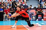 14.09.2019, Paleis 12, BrŸssel / Bruessel<br />Volleyball, Europameisterschaft, Deutschland (GER) vs. Belgien (BEL)<br /><br />Abwehr Lukas Kampa (#11 GER)<br /><br />  Foto © nordphoto / Kurth