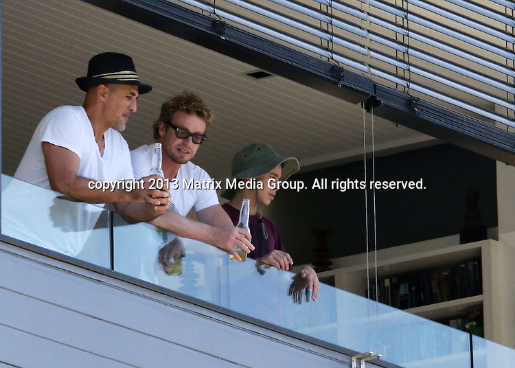 14 DECEMBER 2013 SYDNEY AUSTRALIA<br /> <br /> NON EXCLUSIVE <br /> <br /> Simon Baker pictured at Naomi Watts house with other guests for a get together <br /> <br /> *No internet without clearance*<br /> MUST CALL PRIOR TO USE .<br /> +61 2 9211-1088<br /> Matrix Media Group<br /> Note: All editorial images subject to the following: For editorial use only. Additional clearance required for commercial, wireless, internet or promotional use.Images may not be altered or modified. Matrix Media Group makes no representations or warranties regarding names, trademarks or logos appearing in the images.