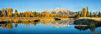 67545-08911 Sunrise and fall color at Schwabacher Bend Landing, Grand Teton National Park, WY