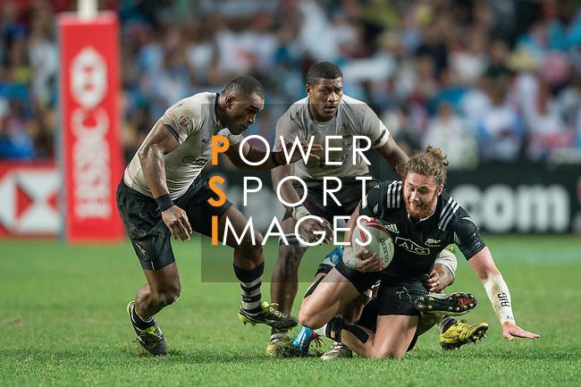 Fiji vs New Zealand during the Cup Final at the HSBC Hong Kong Rugby Sevens 2016 on 10 April 2016 at Hong Kong Stadium in Hong Kong, China. Photo by Li Man Yuen / Power Sport Images