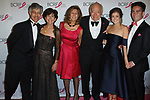 "(L-R) Gary Lauder, Laura Lauder, Judy Glickman Lauder, Leonard Lauder, Eliana Lauder, and Joshua Lauder attend The Breast Cancer Research Foundation ""Super Nova"" Hot Pink Party on May 12, 2017 at the Park Avenue Armory in New York City."