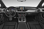 Stock photo of straight dashboard view of 2015 Audi A6 S Line 5 Door Wagon
