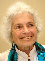 Grace Paley author and activist was the keynote speaker at the Association of Jewish Libraries Convention at the Hyatt Regency Hotel in Cambridge MA June 18, 2006