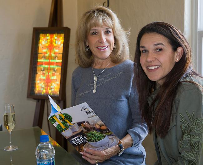 Melissa Nuti and Jo Anne McKnight during Reno Magazine's Home Decor Workshop at Aspen Leaf Interiors Studio in Reno on Saturday, March 24, 2018.