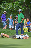 Patrick Reed (USA) and his caddie look over his putt on 2 during 2nd round of the World Golf Championships - Bridgestone Invitational, at the Firestone Country Club, Akron, Ohio. 8/3/2018.<br /> Picture: Golffile | Ken Murray<br /> <br /> <br /> All photo usage must carry mandatory copyright credit (&copy; Golffile | Ken Murray)