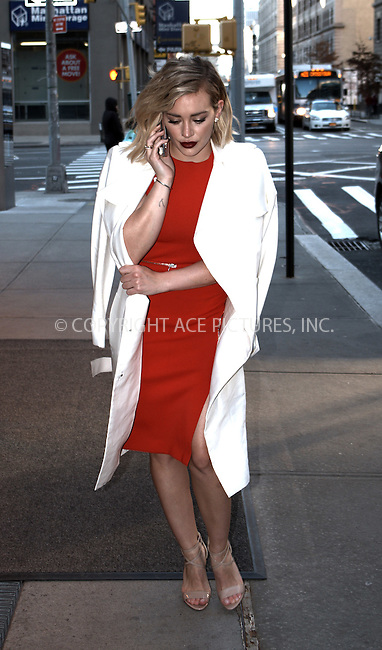 WWW.ACEPIXS.COM<br /> <br /> January 13 2016, New York City<br /> <br /> Actress Hilary Duff made an appearance at AOL Build on January 13 2016 in New York City<br /> <br /> By Line: Curtis Means/ACE Pictures<br /> <br /> <br /> ACE Pictures, Inc.<br /> tel: 646 769 0430<br /> Email: info@acepixs.com<br /> www.acepixs.com