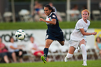 Sky Blue FC forward Monica Ocampo (8). Sky Blue FC defeated the Washington Spirit 1-0 during a National Women's Soccer League (NWSL) match at Yurcak Field in Piscataway, NJ, on July 6, 2013.