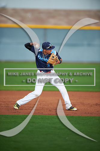 Chris Mondesi (9) of Brooklyn, New York during the Under Armour All-American Pre-Season Tournament presented by Baseball Factory on January 14, 2017 at Sloan Park in Mesa, Arizona.  (Mike Janes/Mike Janes Photography)