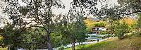 Coyote House, SITES® residential home, Platinum LEED,  with sustainable garden Santa Barbara California, Susan Van Atta landscape architect, Ken Radtkey architect, set in landscape of California Oaks