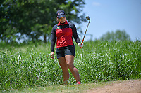 Moriya Jutanugarn (THA) reacts to her shot from the tall grass during round 1 of  the Volunteers of America LPGA Texas Classic, at the Old American Golf Club in The Colony, Texas, USA. 5/5/2018.<br /> Picture: Golffile | Ken Murray<br /> <br /> <br /> All photo usage must carry mandatory copyright credit (&copy; Golffile | Ken Murray)