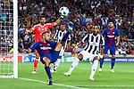 UEFA Champions League 2017/2018 - Matchday 1.<br /> FC Barcelona vs Juventus Football Club: 3-0.<br /> Jordi Alba vs Medhi Benatia.