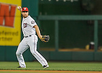 25 August 2016: Washington Nationals infielder Daniel Murphy in action against the Baltimore Orioles at Nationals Park in Washington, DC. The Nationals blanked the Orioles 4-0 to salvage one game of their 4-game home and away series. Mandatory Credit: Ed Wolfstein Photo *** RAW (NEF) Image File Available ***