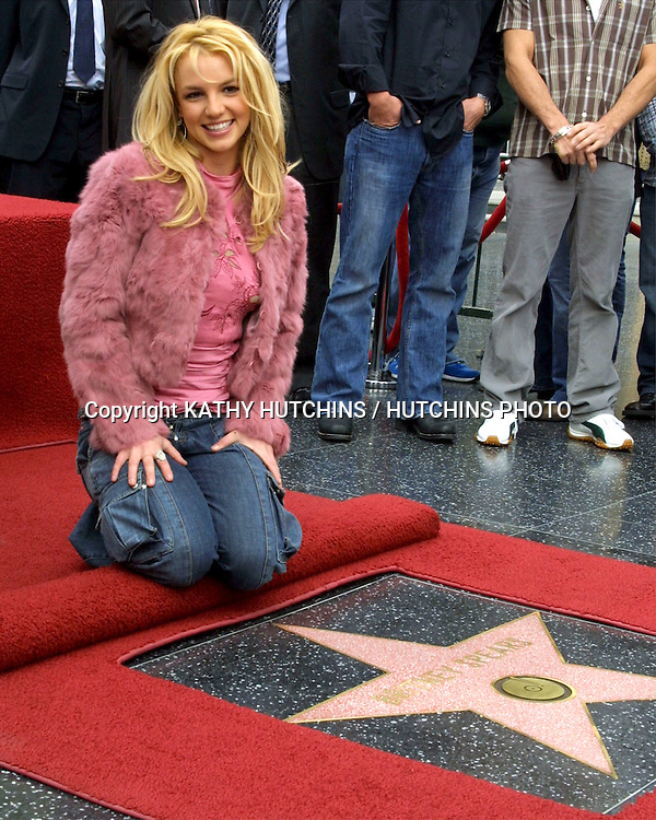 ©2003 KATHY HUTCHINS / HUTCHINS PHOTO.BRITNEY SPEARS RECIEVES A STAR ON THE HOLLYWOOD WALK OF FAME.LOS ANGELES, CA.NOVEMBER 17, 2003..BRITNEY SPEARS.