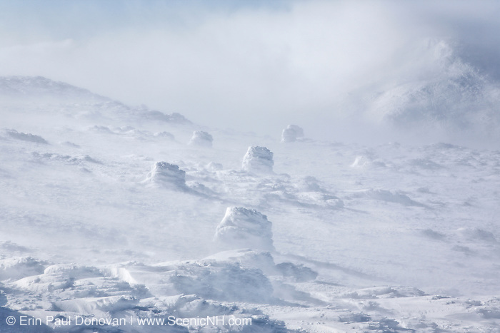 Appalachian Trail - Extreme weather conditions near the summit of Mount Washington during the winter months in the White Mountains, New Hampshire.