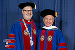 HDR/VIP Portraits - 2017 Commencement - Driehaus College of Business, Kellstadt Graduate School of Business: The Rev. Dennis H. Holtschneider, C.M., president of DePaul University and Rick Kash, vice chairman of the global consumer information analytics firm Nielsen. (DePaul University/Jamie Moncrief)