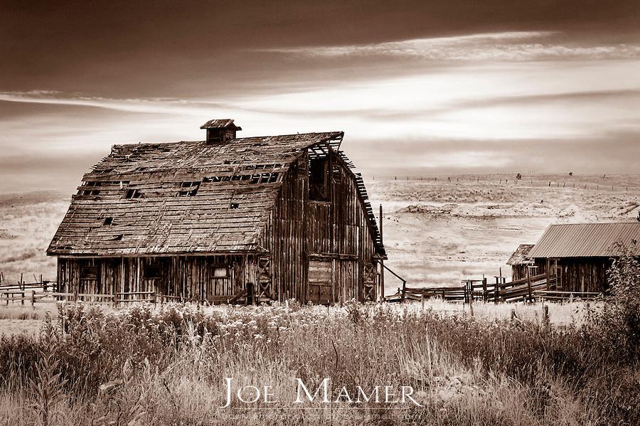 Classic western Barn near Missoula Montana.
