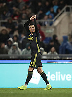 Football, Serie A: S.S. Lazio - Juventus, Olympic stadium, Rome, January 27, 2019. <br /> Juventus' Cristiano Ronaldo celebrates after scoring  during the Italian Serie A football match between S.S. Lazio and Juventus at Rome's Olympic stadium, Rome on January 27, 2019.<br /> UPDATE IMAGES PRESS/Isabella Bonotto