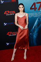Los Angeles, CA - AUG 13:  Indiana Massara attends the Los Angeles Premiere of '47 Meters Down: Uncaged' at Regal Village Theater on August 13 2019 in Los Angeles CA. Credit: CraSH/imageSPACE/MediaPunch