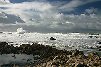 Sometimes the rocky shore, the roiling waves and the cloud-mottled sky all come together to create something special. .  They did on this winter day in December 2006 on the central California coast at Bean Hollow State Beach.