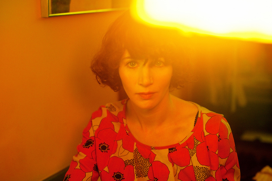 Los Angeles, California, May 30, 2011 - A portrait of performance artist, filmmaker and writer Miranda July at her home in Los Angeles. July's videos, performances, and web-based projects have been presented at the Museum of Modern Art, the Guggenheim Museum and in two Whitney Biennials. She currently lives in Los Angeles with her husband, filmmaker and artist Mike Mills. Her new movie, The Future, premiered this year at the Sundance and Berlin Film Festivals.