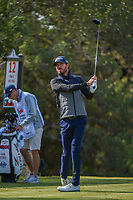 Sam Ryder (USA) watches his tee shot on 12 during Round 1 of the Valero Texas Open, AT&amp;T Oaks Course, TPC San Antonio, San Antonio, Texas, USA. 4/19/2018.<br /> Picture: Golffile | Ken Murray<br /> <br /> <br /> All photo usage must carry mandatory copyright credit (&copy; Golffile | Ken Murray)
