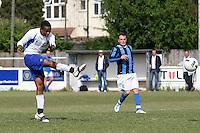 Stratford Juniors score their first goal - Inter Moore (blue/black) vs Stratford Juniors (white) - East London Sunday League Jubilee Cup Final at Wadham Lodge - 01/05/11 - MANDATORY CREDIT: Gavin Ellis/TGSPHOTO - Self billing applies where appropriate - Tel: 0845 094 6026