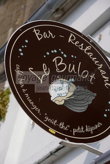Europe/France/Bretagne/Ille et Vilaine/Saint-Malo/Saint-Servan-sur-Mer: Restaurant Le Bulot détail enseigne