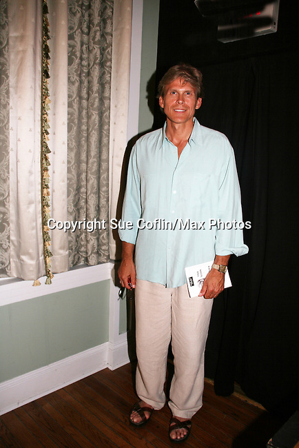 """Grant Aleksander came to see Tina Sloan as she stars in Changing Shoes - """"a one-woman show, about the beautiful, life changing and sometimes difficult discoveries we make when we least expect them. Tina Sloan, a successful actress, mother, wife and friend has a chance encounter one night with an old pair of shoes, sending her on a journey she never planned to take. Join Tina as she searches for the answers to life's ultimate questions in the bottom of her closet and finds reasons to celebrate rather than to give up as she ages. Clips of 26 years on Guiding Light and in movies she has done add to the show's humor and sadness."""" on August 17, 2009 at the Cape May Stage, Cape May, New Jersey. Tina and Joe Plummer wrote the show and Joe also is the director of the show. Th (Photo by Sue Coflin/Max Photos)"""