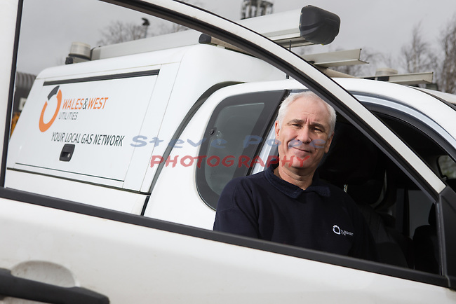 Wales &amp; West Utilities<br /> Paul Loveridge<br /> Emergency gas engineer.<br /> Swindon<br /> 18.12.15<br /> &copy;Steve Pope - Fotowales