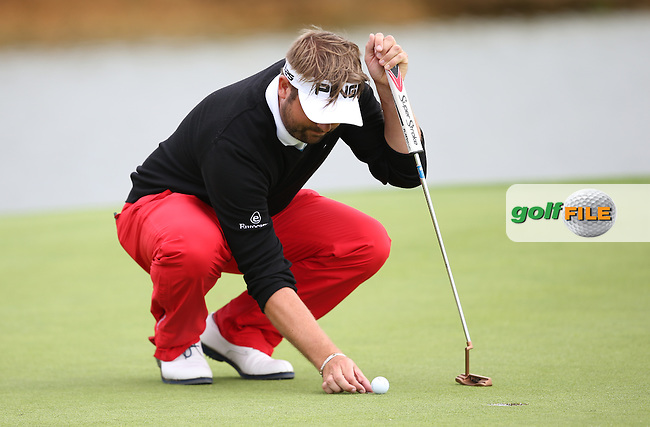 Matthew Baldwin (ENG) preparing to putt during the Final Round of the Alstom Open de France from Le Golf National, Guyancourt, Versailles, France. Picture:  David Lloyd / www.golffile.ie