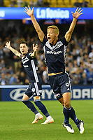 Melbourne, December 8, 2018 - Keisuke Honda of Melbourne Victory in action in the round seven match of the A-League between Melbourne Victory and Adelaide United at Marvel Stadium, Melbourne, Australia.