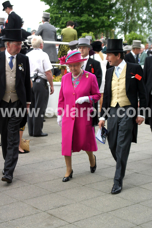 **ALL ROUND PICTURES FROM SOLARPIX.COM**.**WORLDWIDE SYNDICATION RIGHTS**.Epsom Derby Day 2008. Derby Day dates back to 1780 and is still the greatest Derby. Epsom Downs Racecourse, Epsom Downs, Surrey, UK. Saturday, 7th June 2008..This pic: HRH Queen Elizabeth II..JOB REF: 6584 NYA     DATE: 07_06_2008.**MUST CREDIT SOLARPIX.COM OR DOUBLE FEE WILL BE CHARGED* *UNDER NO CIRCUMSTANCES IS THIS IMAGE TO BE REPRODUCED FOR ANY ONLINE EDITION WITHOUT PRIOR PERMISSION*