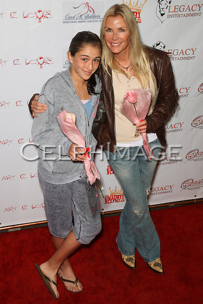 ZOE KATRINA D'ANDREA, KATHERINE KELLY LANG.  Decked out in pajamas, celebrities arrive to Bowling After Dark, an event to benefit the Carol M. Baldwin Breast Cancer Research Fund, at Pinz Bowling Center in Studio City, CA, USA. February 13, 2010.