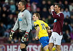 Hearts v St Johnstone...03.12.11   SPL .Liam Craig turns away to celebrate his goal as stranded keeper Marian Kello and Eggert Jonsson look on.Picture by Graeme Hart..Copyright Perthshire Picture Agency.Tel: 01738 623350  Mobile: 07990 594431