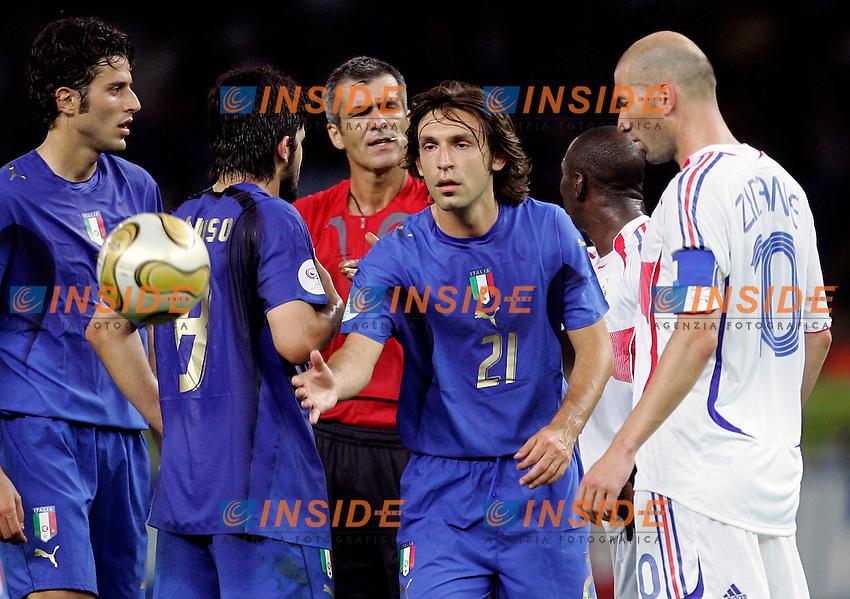 Berlino 9/7/2006 World Cup 2006 - Italia Francia 6-4 (d.c.r.).Italia Campione del Mondo..Andrea PIRLO of Italy. Accanto a lui Zinedine ZIDANE of France .Photo Andrea Staccioli Insidefoto.