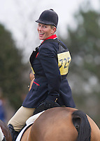 Zara Phillips competes at the Isleham 