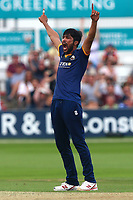 Mohammad Amir of Essex celebrates taking the wicket of Chris Cooke during Essex Eagles vs Glamorgan, NatWest T20 Blast Cricket at The Cloudfm County Ground on 16th July 2017