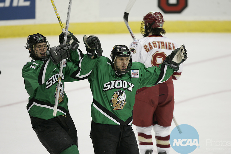 09 APR 2005: The Division I Men's Ice Hockey Championship held at the Schottenstein Center on the Ohio State University campus in Columbus, OH. Denver defeated North Dakota 4-1 for the national title. Jamie Schwaberow/NCAA Photos