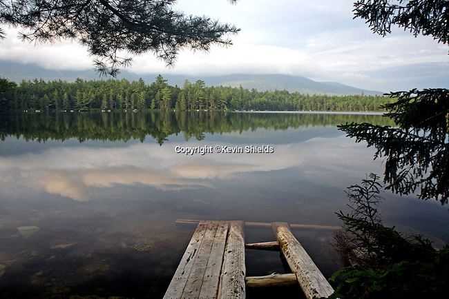 Reflections in Daicey Pond, Baxter State Park, Maine, USA