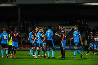 The game ends 1 - 1 during the Sky Bet League 1 match between Scunthorpe United and Fleetwood Town at Glanford Park, Scunthorpe, England on 17 October 2017. Photo by Stephen Buckley/PRiME Media Images