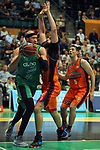 League ACB-ENDESA 2017/2018. Game: 30.<br /> Divina Seguros Joventut vs Valencia Baket Club: 77-75.<br /> Jerome Jordan vs Bojan Dubljevic.