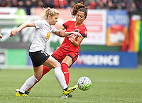 Portland, OR - Sunday Oct. 02, 2016: McCall Zerboni, Nadia Nadim during a National Women's Soccer League (NWSL) semi-finals match between the Portland Thorns FC and the Western New York Flash at Providence Park.