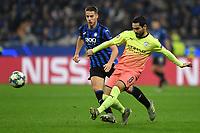 6th November 2019, Milan, Italy; UEFA Champions League football, Atalanta versus Manchester City; Ilkay Gundogan of Manchester City gets his shot away