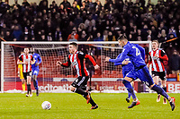 Sheffield United's midfielder John Fleck (4)  runs through midfield during the Sky Bet Championship match between Sheff United and Cardiff City at Bramall Lane, Sheffield, England on 2 April 2018. Photo by Stephen Buckley / PRiME Media Images.